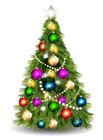 illustration for design with realistic Christmas tree Stock Vector - 22741992