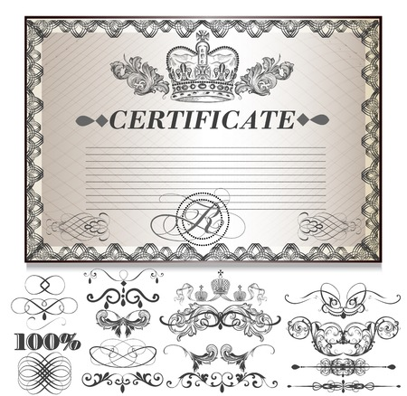 Certificate or coupon for document design  Certificate vector collection Vector