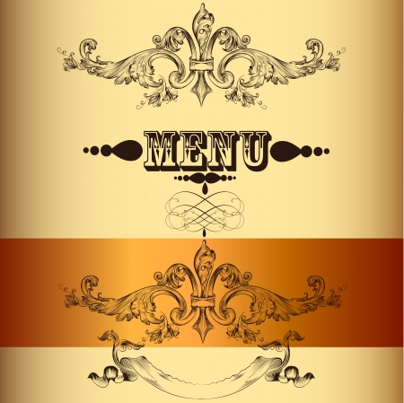 Elegant classic wedding invitation or menu  Retro vector Vector