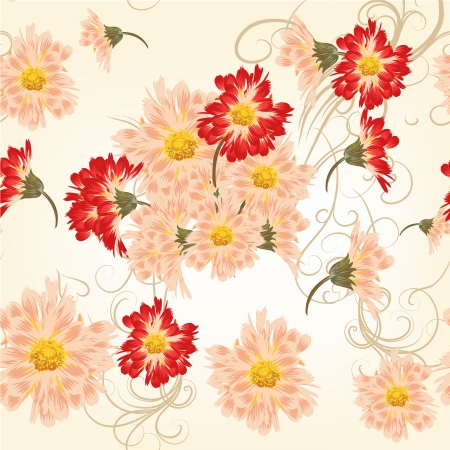 Vector pattern for wallpaper design with flowers Vector