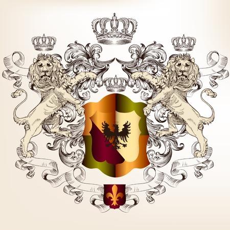 nobel: escudo her�ldico con las coronas y los leones