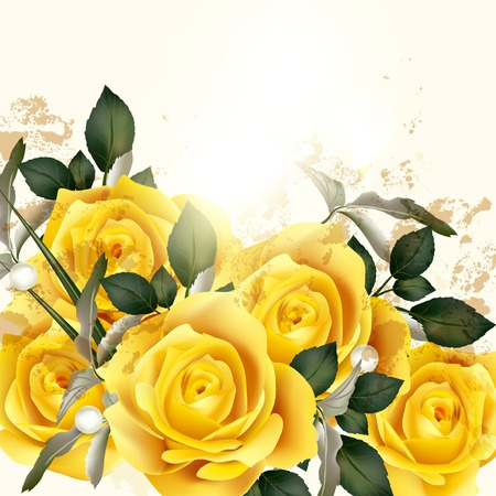 13,446 Yellow Rose Stock Vector Illustration And Royalty Free ...