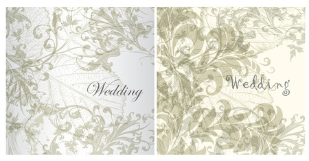 Collection of wedding invitation cards for design Illustration