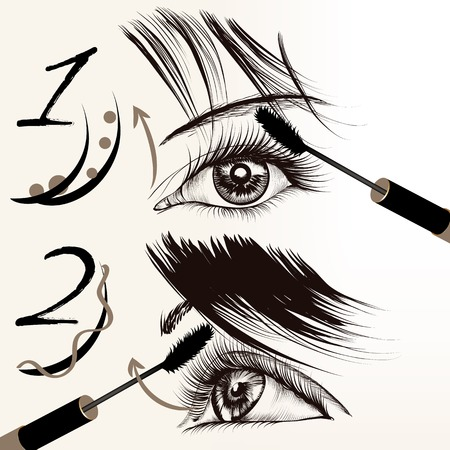 remarkable: Fashion conceptual background with female eyes and mascara