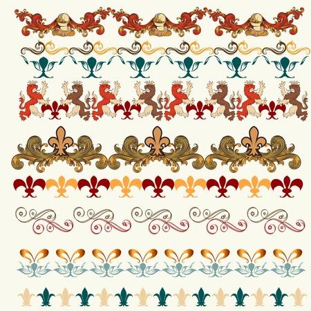 bordi decorativi: Bordi decorativi per la progettazione. Araldico vettoriale