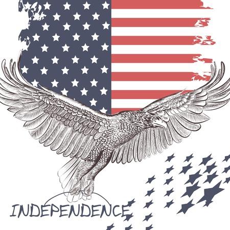 star of life: National symbol of USA flag and eagle