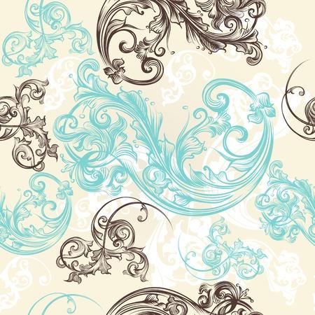 Retro ornamental seamless wallpaper pattern 向量圖像