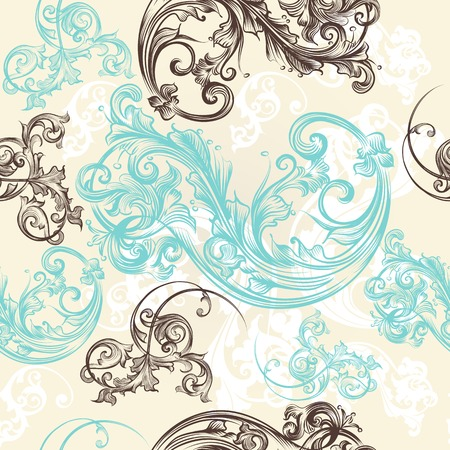 Retro ornamental seamless wallpaper pattern Illustration