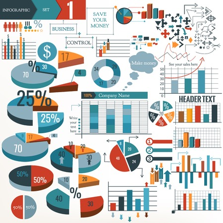 Infographic and diagram business design elements vector set