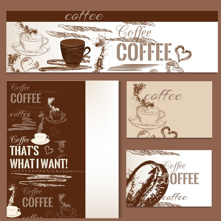 identity: Corporate identity templates with coffee