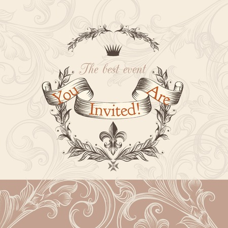 soft colors: Luxurious wedding invitation in soft colors