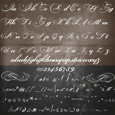 hojas membretadas: dibujado a mano la fuente caligráfica en el estilo vintage Vectores