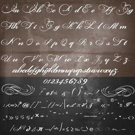 letterhead: Hand drawn calligraphic font in vintage style