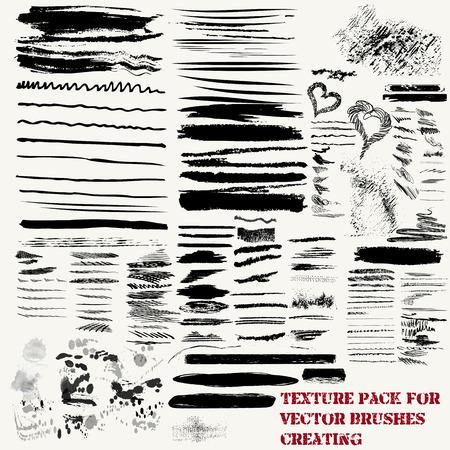 monochromic: Big mega set of vector textures pack for brushes creation