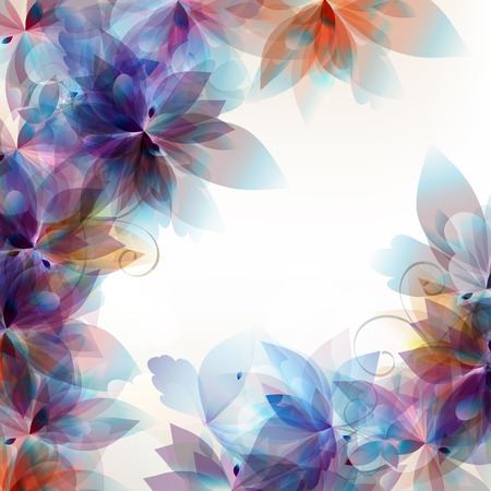 place to shine: Abstract floral background with foliage Illustration