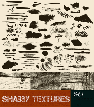 halftones: Big set or vector collection of high detailed vector textures from subtle halftones to heavily distressed spots Illustration
