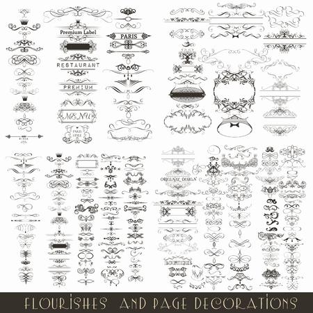 컬렉션 또는 결혼식 초대 디자인을위한 벡터 장식 프레임의 메가 집합 스톡 콘텐츠 - 56010071