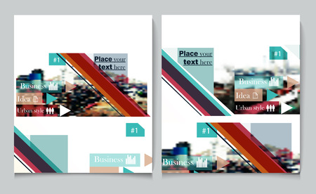megacity: Business report brochure flyer design template vector cover presentation abstract urban style