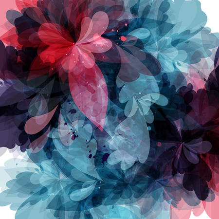 foliages: background with abstract foliage in watercolor style Illustration