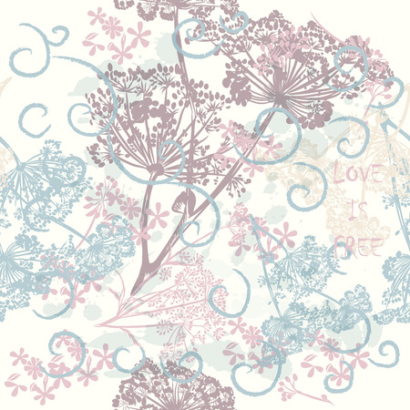 soft colors: Beautiful vector pattern in soft colors with florals