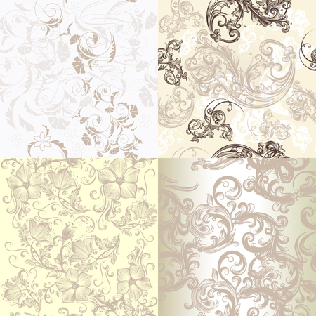 Rustic Floral Patterns In Pastel Colors Royalty Free Cliparts
