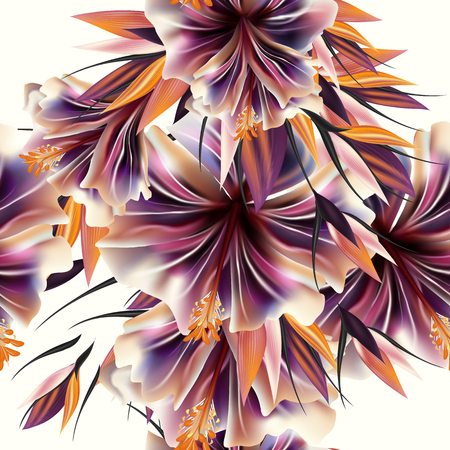 fabric patterns: Beautiful vector pattern with plants flowers. Ideal for fabric prints patterns