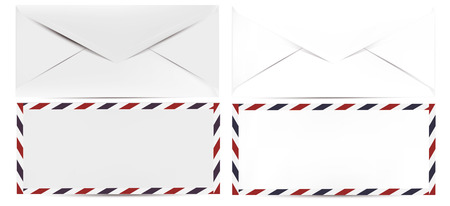clean up: Collection of vector realistic clean mock up envelope for design Illustration
