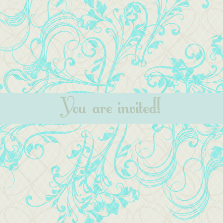 Luxurious wedding invitation soft and tender color