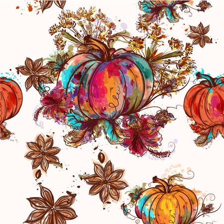 Colorful pumpkins icon.
