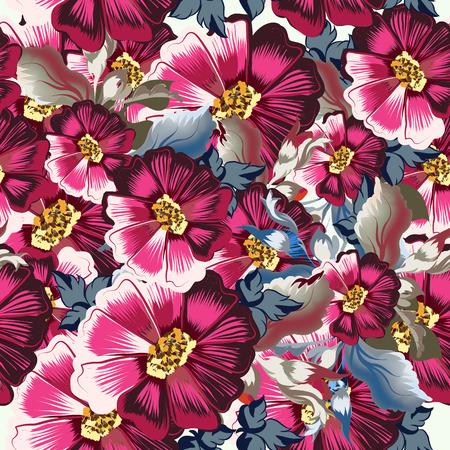 Floral pattern  illustration. Illustration