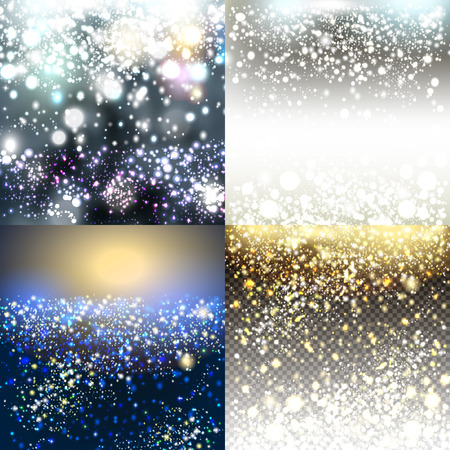Christmas vector pack of shiny blurred backgrounds