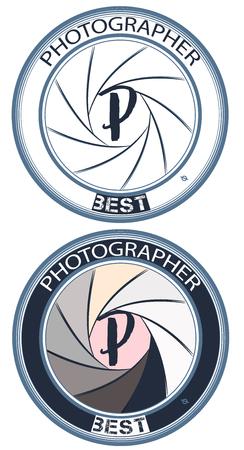 Logotype ou insigne de photographe de mode pour la conception