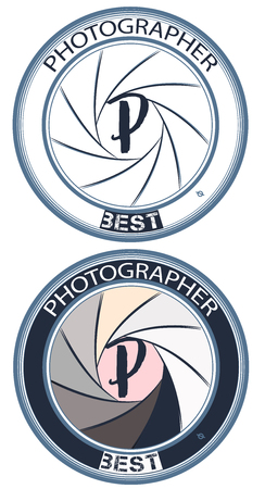 Fashion photographer logotype or badge  for design