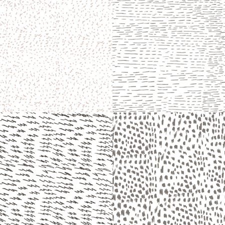 Collection of vector textured patterns for design Illustration