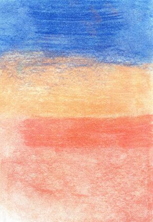 Colored pastel texture in blue, pink and orange
