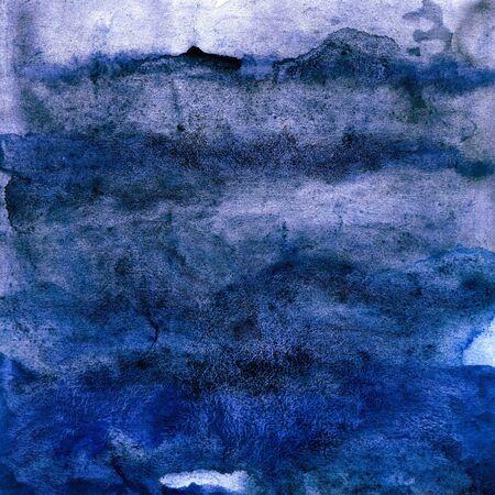 Dark blue watercolor texture, sea, sky, water, ocean, background for design