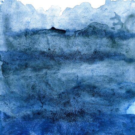 Dark blue watercolor texture, sea, sky, water, ocean, background