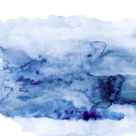 Grunge watercolor ink spot texture, mysterious fog, sea, ocean, sky,  Stok Fotoğraf