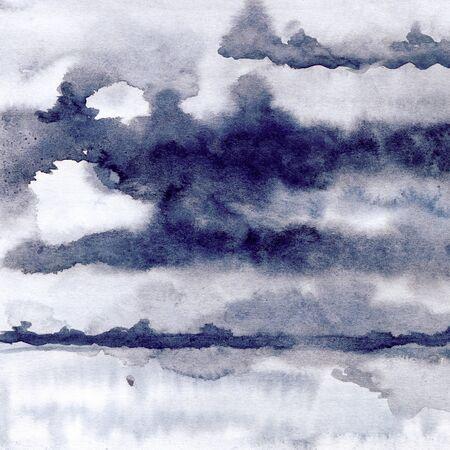 Watercolor ink spot texture, mysterious fog Stok Fotoğraf