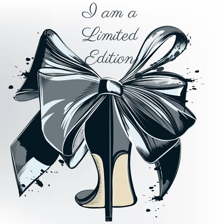 Fashion  with high heel shoe and bow. I am limited edition