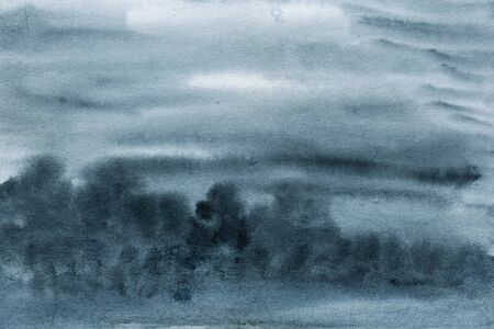 Dark blue grey watercolor texture, abstract painting 스톡 콘텐츠