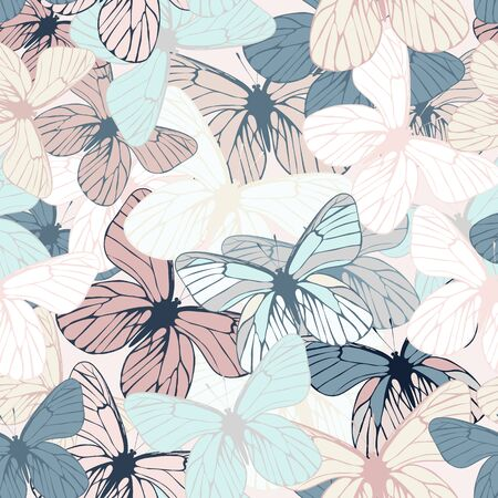 Beautiful vector seamless butterfly pattern
