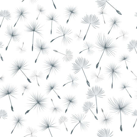 Fashion vector pattern with dandelions seeds Çizim