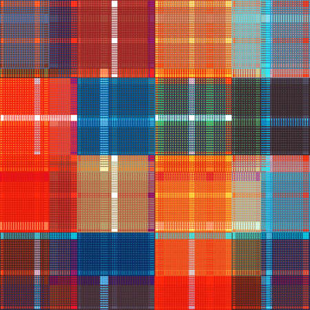 Colored vector design, tartan fabric pattern for shirts and textile