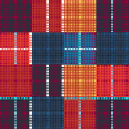 Vector design, tartan square fabric pattern for shirts and textile Çizim