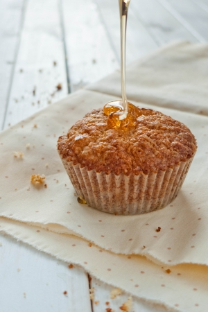 muffins with caramel syrop photo