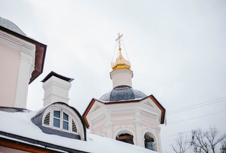 Small church in Central Moscow