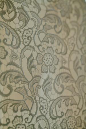 wedding dress back: Patterns on a wedding dress. Wedding decor