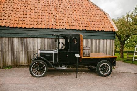 오래 된 픽업 트럭 자동차입니다. 오래된 차 스톡 콘텐츠