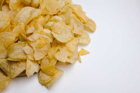 Chips on a white background. Junk food
